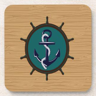 El ancla náutica envía diseño del marinero del tim posavasos de bebida