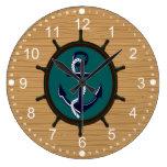 El ancla náutica envía diseño del marinero del tim relojes de pared