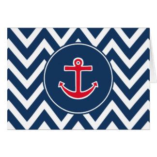 El ancla náutica le agradece cardar tarjeta pequeña