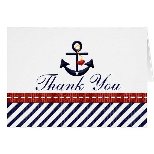 El ancla náutica le agradece las tarjetas de notas