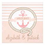 El ancla rosada raya la invitación náutica del