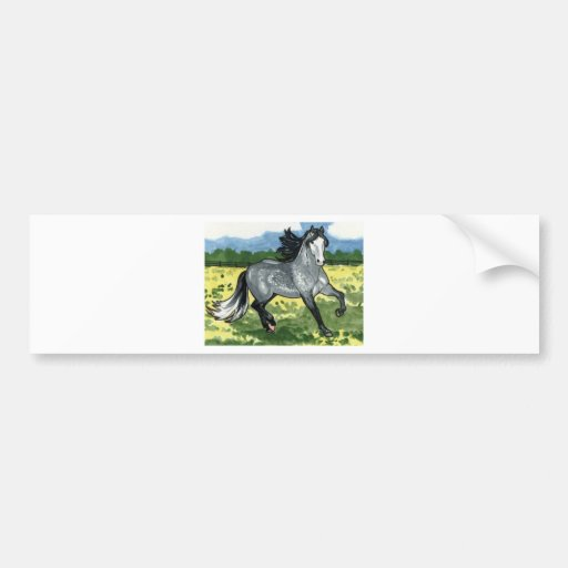 El andaluz Dapple arte gris del caballo Pegatina De Parachoque