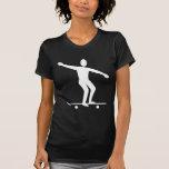 El andar en monopatín - blanco camiseta