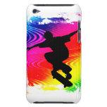 El andar en monopatín en Grunge del arco iris iPod Touch Case-Mate Protector