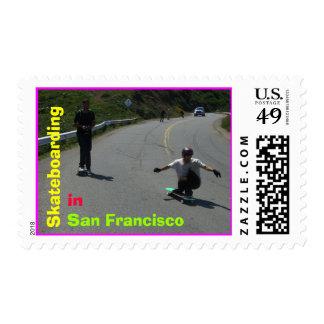 El andar en monopatín en San Francisco Sello