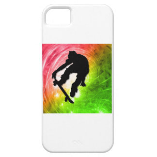 El andar en monopatín en un ciclón psicodélico funda para iPhone SE/5/5s