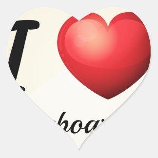 El andar en monopatín pegatina en forma de corazón