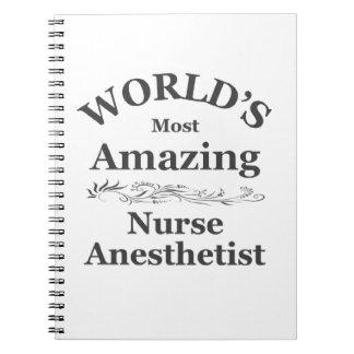 El Anesthetist más asombroso del mundo Libro De Apuntes Con Espiral