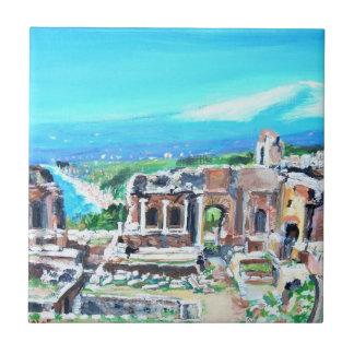 El anfiteatro griego arruina la teja