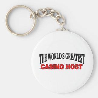 El anfitrión más grande del casino del mundo llavero redondo tipo pin