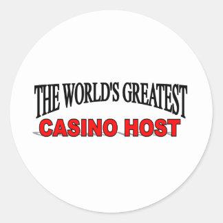 El anfitrión más grande del casino del mundo pegatina redonda
