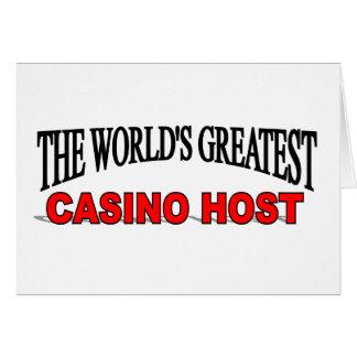 El anfitrión más grande del casino del mundo tarjeta de felicitación