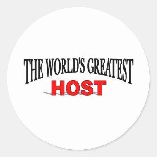 El anfitrión más grande del mundo pegatina redonda