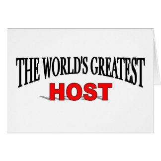 El anfitrión más grande del mundo tarjeta de felicitación