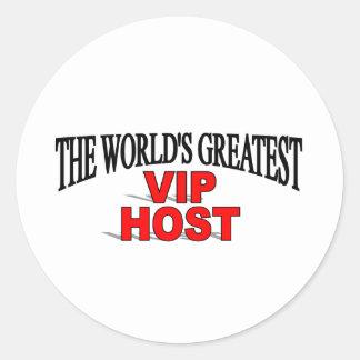 El anfitrión más grande del VIP del mundo Pegatina Redonda