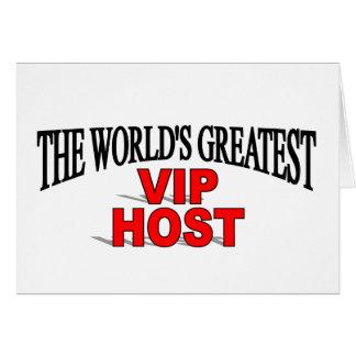 El anfitrión más grande del VIP del mundo Tarjeta De Felicitación
