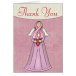 El ángel 1 del cáncer de pecho le agradece tarjeta