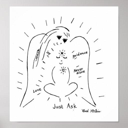 """El """"ángel… apenas pide"""" la lona posters"""