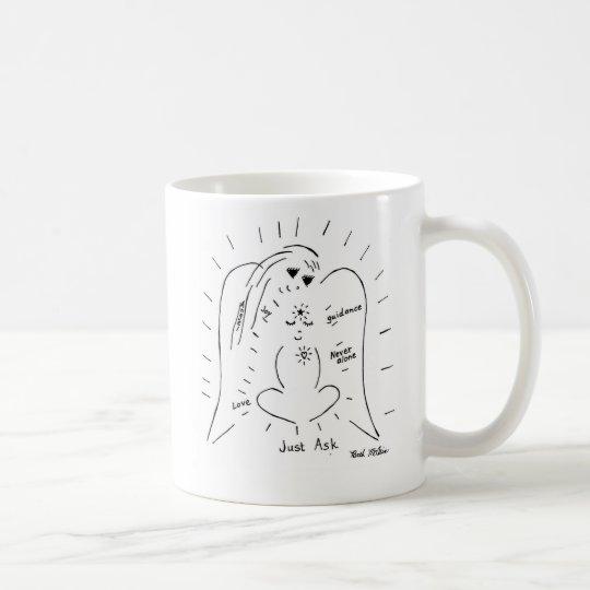 El ángel… apenas pide taza de café