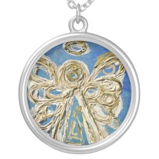 El ángel azul se va volando el colgante de plata