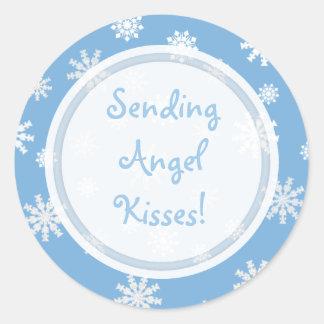 El ángel besa la colección pegatina redonda