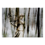 El ángel camina a través del poster del invierno