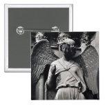 El ángel con una sonrisa pin cuadrada 5 cm