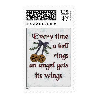 El ángel consigue sus alas timbres postales