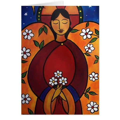 El ángel curativo en enero Oliverio Tarjetas