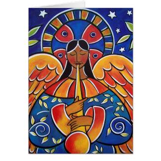 El ángel de buenas noticias tarjeta de felicitación