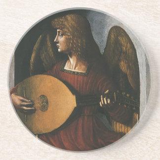 el ángel de da Vinci con un laúd Posavasos Diseño