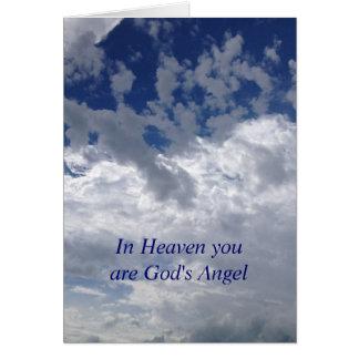 El ángel de dios tarjeta de felicitación