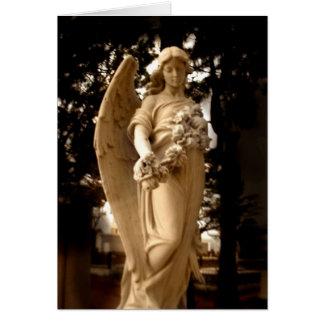 El ángel de donante tarjeta