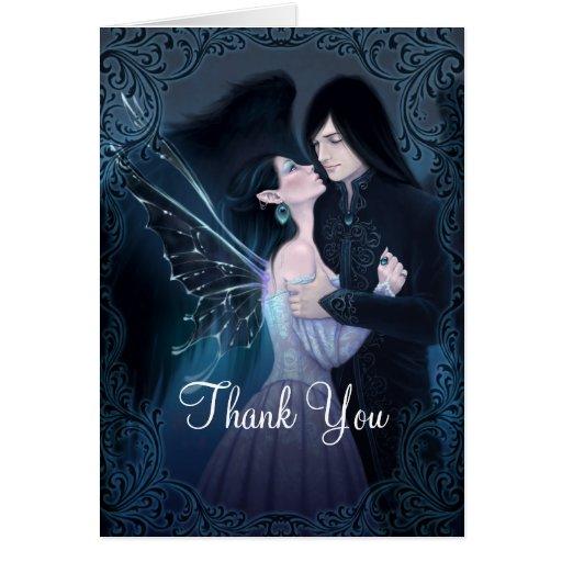 El ángel de hadas del zafiro le agradece tarjeta de felicitación