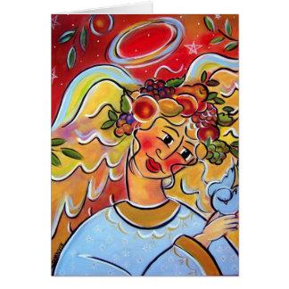 El ángel de la cosecha tarjeta de felicitación