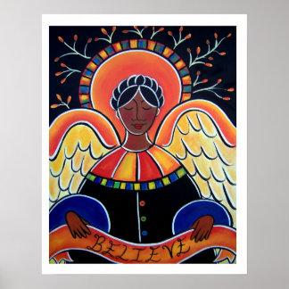El ángel de la lucha en enero Oliverio Posters