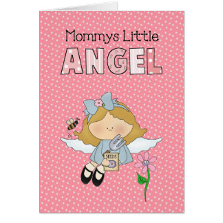 El ángel de la mamá de la niña del bebé del niño d tarjeta