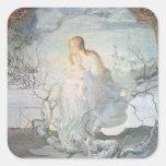 El ángel de la vida, 1894 calcomania cuadradas