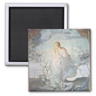 El ángel de la vida, 1894 imán cuadrado