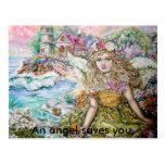 El ángel de los crustáceos de la perla., un ángel  tarjeta postal