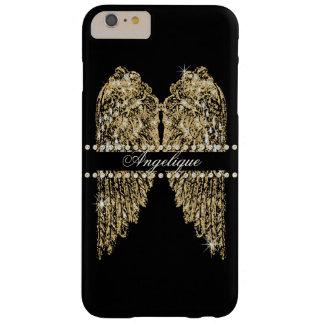 El ángel de oro de la mirada de la joya del funda de iPhone 6 plus barely there