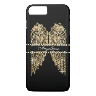 El ángel de oro de la mirada de la joya del funda iPhone 7 plus