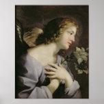 El ángel del anuncio, c.1650 posters