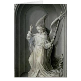 El ángel del anuncio tarjeta de felicitación