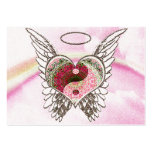 El ángel del corazón de Yin Yang se va volando la Plantilla De Tarjeta De Negocio