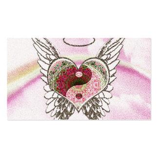 El ángel del corazón de Yin Yang se va volando la Tarjetas De Visita
