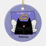 El ángel del gato negro personaliza adorno