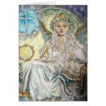 El ángel del navidad subió tarjetas
