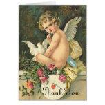 El ángel del Victorian le agradece cardar Felicitacion