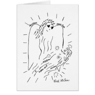 """El ángel """"despierta la estimada una"""" tarjeta"""